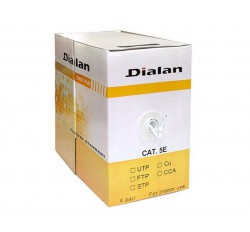 Dialan UTP Cat.5E 4PR CCA 0.48 PVC Indoor 305м
